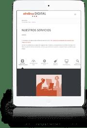 Diseño gráfico y creación de Páginas web en Ipad