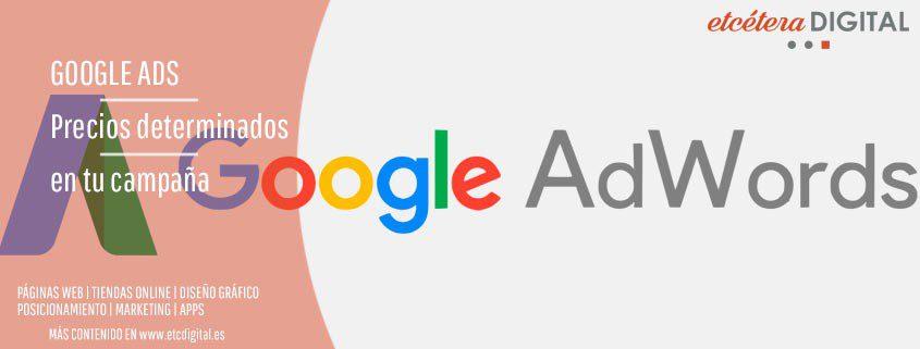 precios determinados google ads