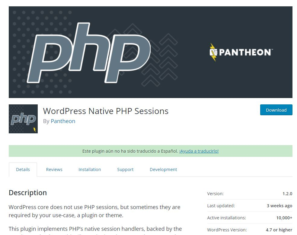 WordPress Native PHP Sessions