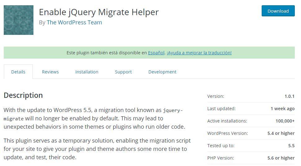 jquery migrate helper