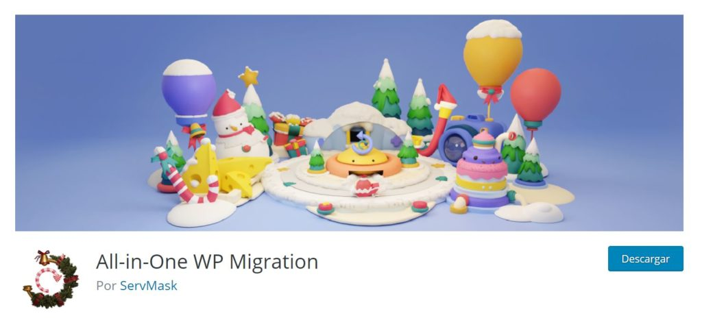Plugin para WordPress All in One WP migration