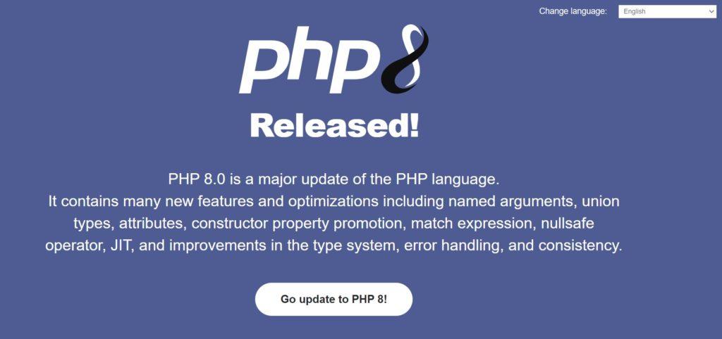 Lanzamiento de PHP 8