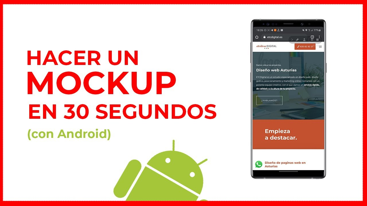 muckup rapido desde android