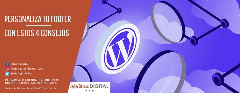 4 consejos para personalizar el footer de tu WordPress
