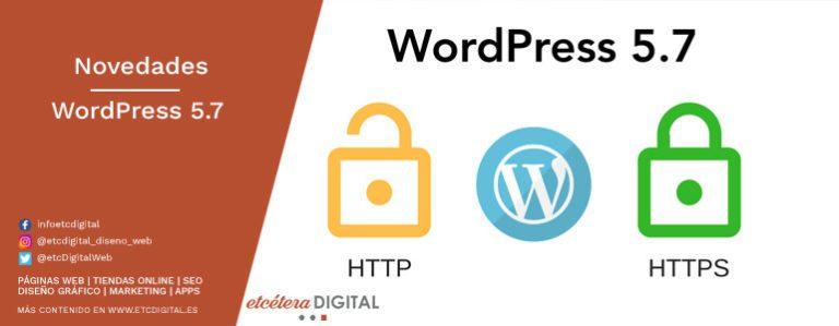 novedades de wordpress 5 7