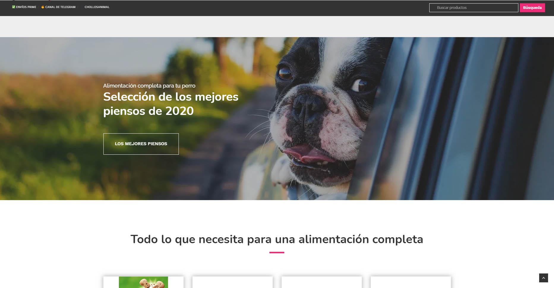 diseño de tienda online para mascotas - Faunamix