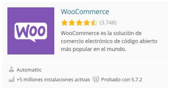 Plugin Woocommerce en WordPress Org
