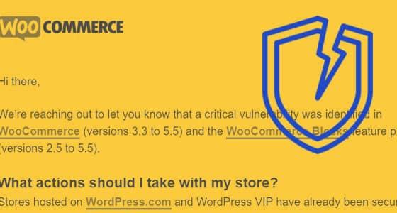 fallo de seguridad critico en WooCommerce